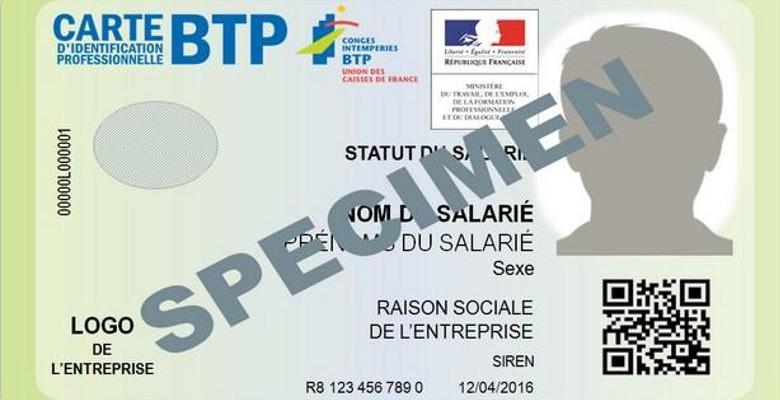 Une obligation de carte d'identité professionnelle dans le BTP
